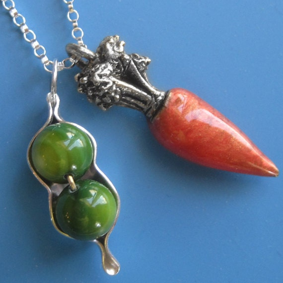 Peas and Carrots Necklace