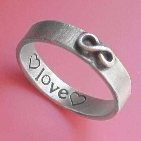 Custom Stamped Infinity Ring