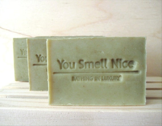 Get Lucky Man Soap for men, rustic woodland scent - gift for him green soap with antioxidant, masculine soap, vegan soap, natural soap