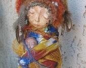 OOAK Gypsy Moon Dreamer, Bohemian Spirit Doll, Kitchen Witch