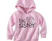 SALE / 4T Big Sister Pink Pullover Hoodie