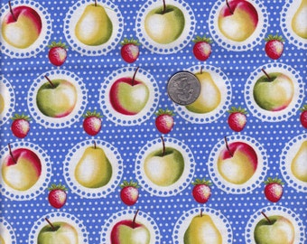 Fat quarter - Fruit Stand in Blue - Michael Miller cotton quilt fabric