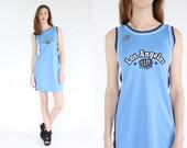 vintage 90s los angeles sports dress / LA club kid raver dress