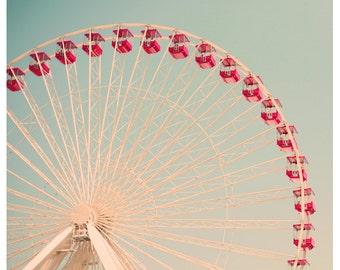 Fair Photograph - Ferris Wheel Print - Fine Art Photography - Fair Art - Children's Art - The Great White - Oversized Print - Housewarming