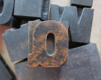 Letter Q Antique Letterpress Wood Type Printers Block