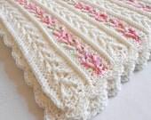 Crochet Pattern - Avalon Baby Blanket Afghan Babyghan - Throw Blanket or Lapghan Pattern - PDF Format