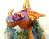 "E- PATTERN- PRIMO, Dragon- 17"" (44 cm) Tall, TUTORIAL, Cloth dolls, Workshop, Projects, Diy Dragon, Michelle Munzone, Instructional,"