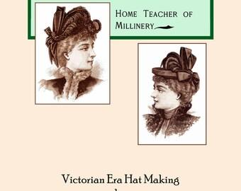 1896 Millinery Book Victorian Edwardian Hat Making Make Hats Milliner DIY How to Milliner Hatter Guide Historical Reenactment