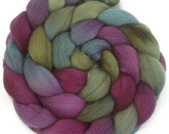 Handpainted Polwarth Wool Roving - 4 oz. ENCHANTED - Spinning Fiber