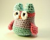 Owl Plush Crochet Small Cotton Toy