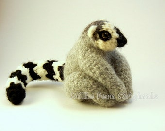 Ring Tail Lemur Crochet Plush Toy  Custom