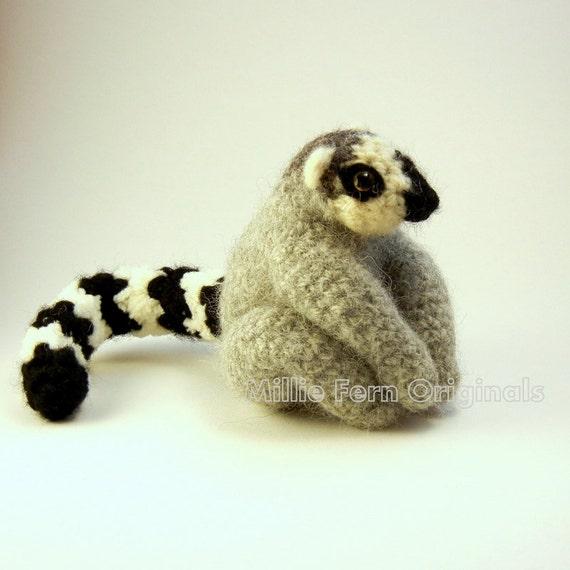 Ring Tail Lemur Crochet Plush Toy  Custom