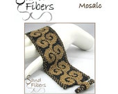 Peyote Pattern - Kaleidoscrolls Mosaic Peyote Cuff / Bracelet  - A Sand Fibers For Personal/Commercial Use PDF Pattern