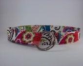 Multicolor Cream Paisley Print Fabric Belt