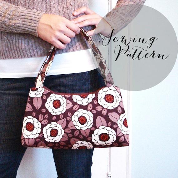 INSTANT DOWNLOAD - Ella Handbag PDF Sewing Pattern by Jenna Lou Designs