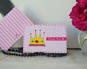 Princess Party 4x6 Thank You Blank Notecards - DIY Printables