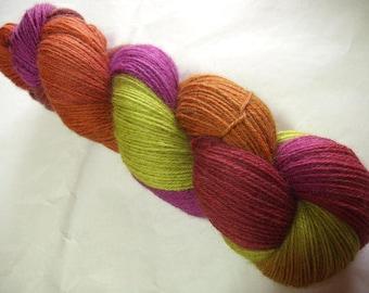 Baby alpaca yarn, hand painted yarn, HEATHER & FERN, super soft yarn, fingering weight, alpaca knitting yarn, crocheting, weaving, 440yds