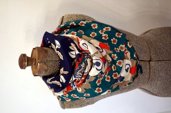Vintage Silk Scarf Calla Lilies Floral 1988 Ginnie Johansen Vintage Womens Scarves 80s Vintage Accessories Gift Ideas for Her