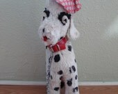 Vintage 1950s Toy Dog Dalmatian with Beret and Leash 201356
