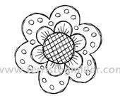 Thermofax Screen - Flower 1 Large
