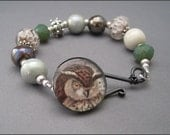 Owl in a Pine Tree Bracelet