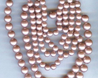134 6mm and 8mm Elegant Rose matte glass pearls
