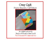 Peyote Bracelet Pattern ... CRAZY QUILT ... Colorful . Multicolor . Nostalgic . Abstract . Bold . Modern . Geometric . Shapes . 3 for 2