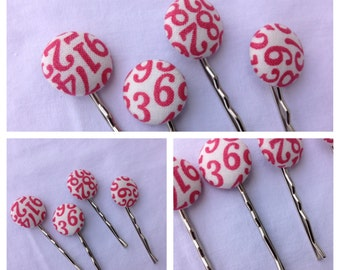 Counting Hair Pins-Pink Numbers