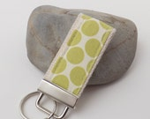 Mini Key Fob/Key Chain - Full Moon Dot's Lime