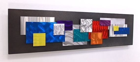 colorful abstract metal wall sculpture by jonallenmetalart. Black Bedroom Furniture Sets. Home Design Ideas