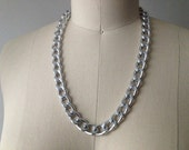 Simple Silver 24 inch Chain Necklace