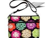 CLEARANCE 11 inch MacBook Air Sleeve Bag Case Cross Body Shoulder Bag Zipper Padded Bird Butterfly Flowers pink purple RTS