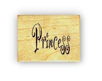 Princess mounted rubber stamp, word No.5