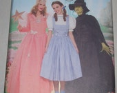 Simplicity 4136 Wizard of Oz, Glinda, Dorothy, Wicked Witch Costume Patterns Misses Size HH 6-12