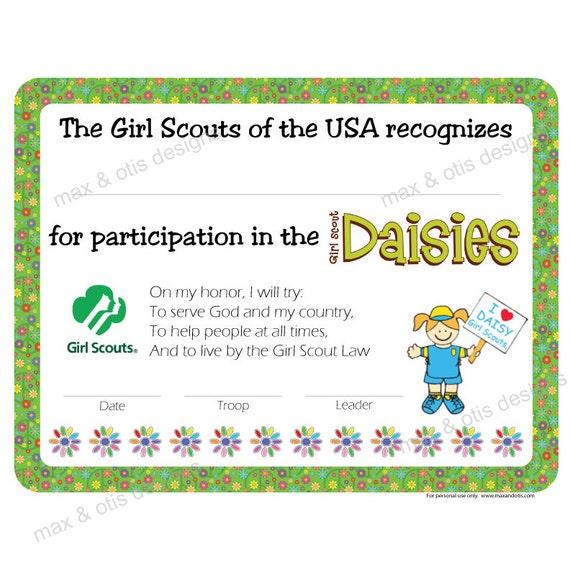 Printable Girl Scout Award Certificates | just b.CAUSE