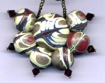 Original pendant of polymer clay