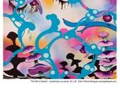 Contemporary Art Print Bat from Original Painting