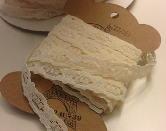 Non Stretch Lace Trim  in Ivory