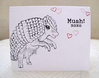 Love  Armadillo Greeting Card