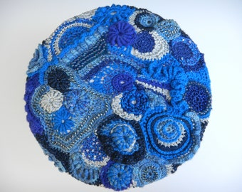 Freeform Crochet Scrumble Beret One Of A Kind