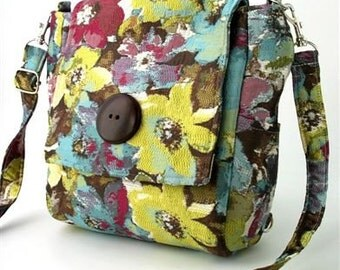 womens backpack converts to messenger bag, crossbody handbag, crossbody sling bag, floral tote bag, shoulder purse, zipper bag, fit Ipad