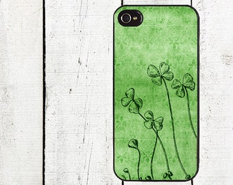 iphone 6 case Green Shamrock iPhone Case - for iphone 4,4s  iphone 5 case Galaxy s3 s4 s5 - St. Patrick's Day