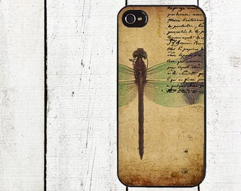 Vintage Dragonfly Phone Case for  iPhone 4 4s 5 5s 5c SE 6 6s 7  6 6s 7 Plus Galaxy s4 s5 s6 s7 Edge