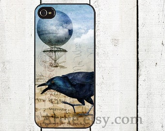 Steampunk Raven Phone Case for iPhone 4 4s 5 5s 5c SE 6 6s 7  6 6s 7 Plus Galaxy s4 s5 s6 s7 Edge