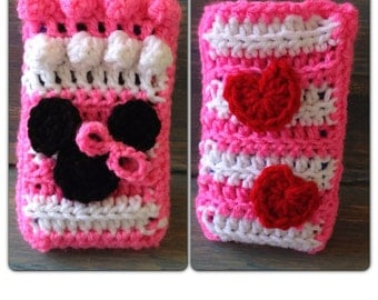 Minnie Mouse cellphone cozy case iphone cover crochet pattern