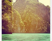 THAILAND - 4 x 4 print of Cliffs and Clear Water