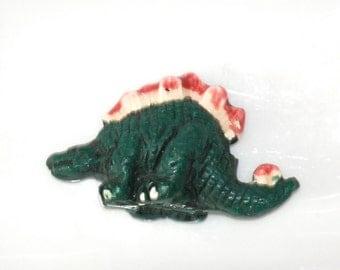 SALE  Large Stegosaurus Dinosaur Peruvian Clay Beads (1) CLA9