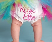 Custom Boutique Averie Monogrammed Bloomer Diaper Cover