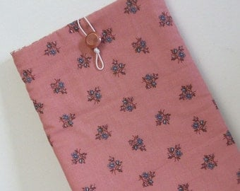 Tablet Reader Sleeve Case, tablet case, pink, vintage fabric, gunne sax pink fabric, vintage button, ready-to-ship