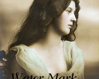 Digital  download serenity beautiful girl long hair 1900 image repro.Tags, frame,greeting cards, sales tags,sewing